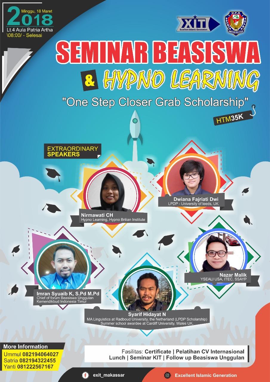 Seminar Beasiswa & Hpyno Learning